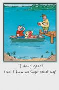 Humorous Fishing Gear Birthday Card